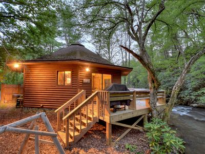 Photo for Creekside Cabin directly on Rushing Waters!!