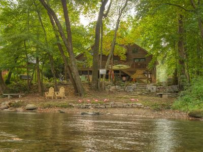 Photo for Luxury Cabin On The Chattahoochee River - Short Walk To Downtown Helen
