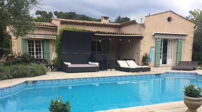 Photo for Beautiful villa with pool on the heights of Antibes, near Cannes.
