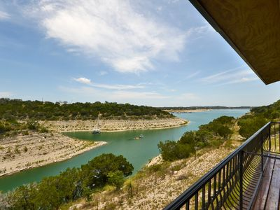 Photo for Shiraz Haus: Lakefront Villa on Vineyard—45 Mins from Downtown Austin