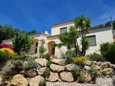 Photo for Sea and mountain views for this beautiful villa with private pool.