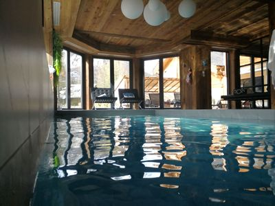 Photo for chalet l'orpin, swimming pool, sauna, billiards, cinema