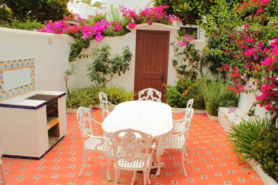 Beautiful terrace with a barbecue