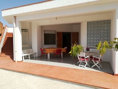 Photo for Quiet villa in private street, 100m from BandieraBlu LidoFiori Menfi beach