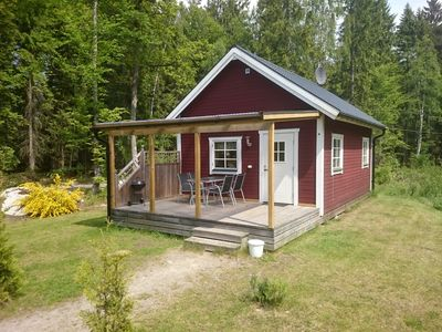 Photo for Cottage by the lake Örsjön with free Wi-Fi and its own private rowing boat