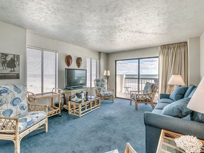 Photo for Amazing oceanfront 3 bedroom condo at Crescent Towers, unit 301