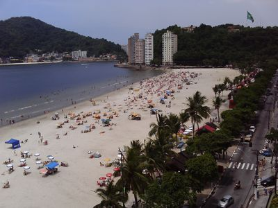 Photo for Apartment in front of the beach in São Vicente! Spectacular view !!