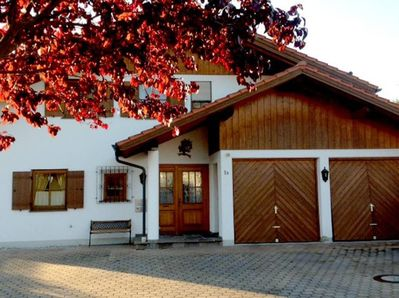 The outside of our lovely home located in Trauchgau, Bavaria