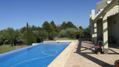 Photo for Villa with private pool, WIFI, air conditioning, SAT TV large plot, sea view