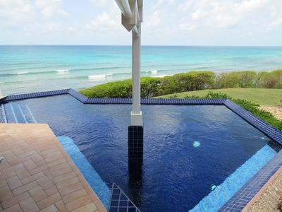Photo for Oceanfront 4bed/5 bath w/ Private Pool Overlooking Caribbean Sea, walk to beach!