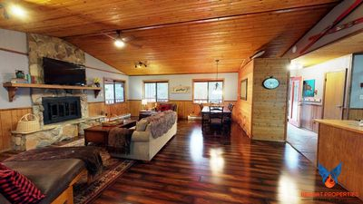 Photo for Updated; Fire Pit; Smart TV! Lazy Bear Cabin