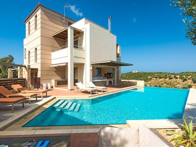 Photo for A beautiful 5 bedroom villa with big private pool, just 7km away from Chania