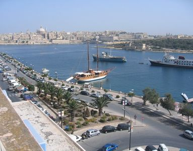 Sliema harbour view from roof terrace