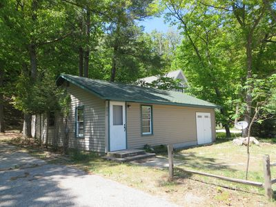Photo for Cozy One Bedroom Cottage Across From Portage Lake & Steps From Lake Michigan
