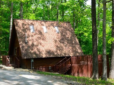 Photo for Cedar A Frame Chalet cabin 6 with HOT TUB on Patoka Lake So. Indiana