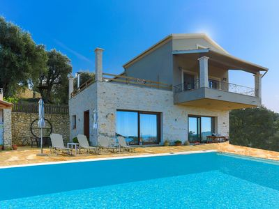 Photo for Villa Dersea: Stunning sea and Sunset views, A/C, WiFi