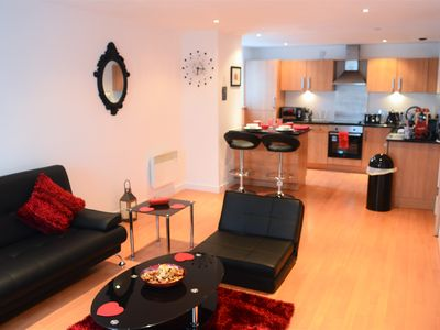 Photo for Superb 1 Bedroom Apartment (sleeps 5) next to SSE Hydro - Airbnb Superhost!!