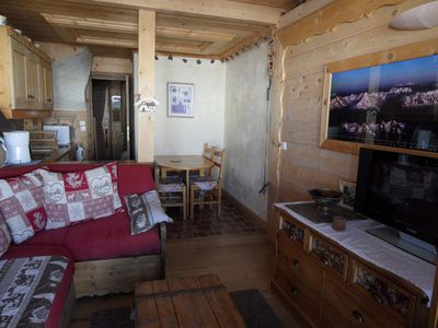 Photo for Wonderful duplex in wooden chalet style in Belle Plagne for 6 persons. 3 rooms