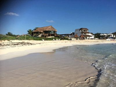 Photo for BEACH FRONT  4 BDRS. PENTHOUSE  Staff, Pool ,Kayaks ,Wi-Fi BEST BEACH