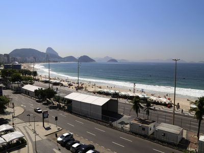 Photo for Rio032-Very spacious 3 bedroom apartment on the beachfront in Copacabana