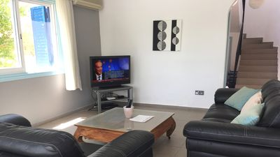 Large open planned lounge, UK TV
