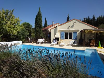 Photo for Carcassonne area large villa close to medieval castle and Mediterranean beaches