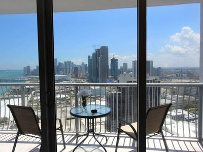 Photo for Luxe Highrise with WATER /SKYLINE VIEW in the Heart of Miami, Parking Included