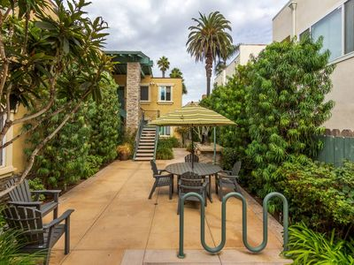 Photo for Charming OB beach condo, steps to the beach, listen to the waves crash