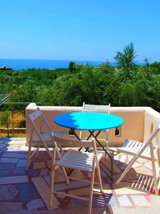 "Photo for The Blue Moon Apartment ""Iris Blu"", sea view, 500 meters from the beach"