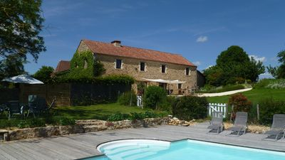 Photo for Large gite, for 12 with  pool, magnificent views, peaceful and calm.