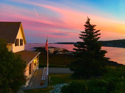 Photo for Beautiful Oceanfront Cottage With Chef's Kitchen near New Harbor Maine