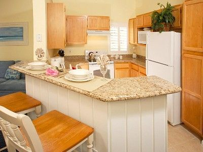 Fully-Equipped Kitchen with Granite Counters