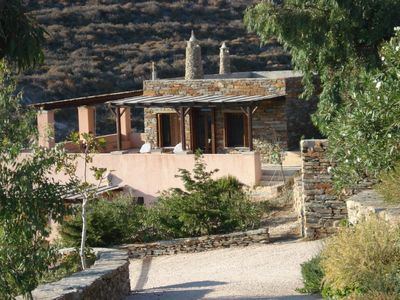 Photo for A modern home on a small island paradise just an hour from Athens