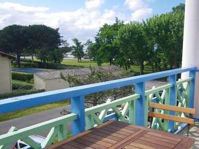 Photo for Cozy apartment with private pool and view of the Arcachon bay