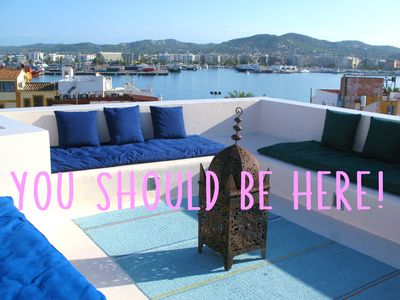 Photo for Two-storied house in old Ibiza town. Chill-out terrace with excellent views.