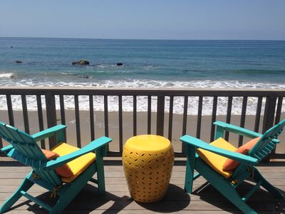 Photo for Oceanfront Home in Malibu - on the sand w/no public access