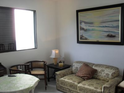 Photo for Great apartment in Santos one block from the beach and the boardwalk