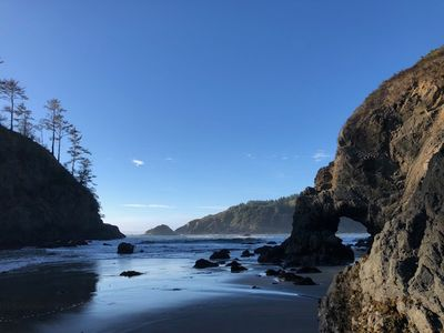 Take a walk at low tide down to Trinidad State Beach for unforgettable views!