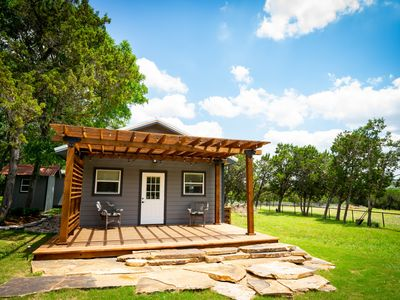 Photo for Modern hill country tiny home with loft near Guadeloupe river and Canyon Lake.