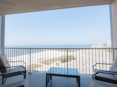 Photo for Deluxe 2 Bedroom w/ Complex Pool, Private Balcony & Gorgeous Gulf Views