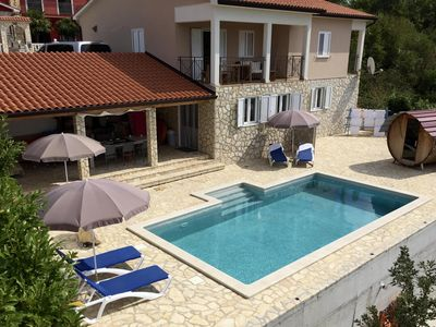 Photo for Luxury Villa, Full airco, 100% private pool beautiful outdoor kitchen and close to the Sea