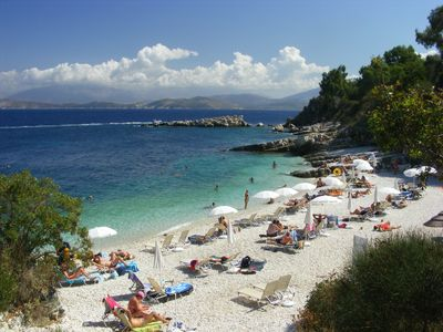 Photo for Corfu in the picturable village of Kassiopi,  lovely apartment by the sea side.