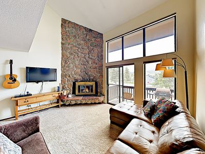Photo for New Listing! Meadow Ridge Gem on Free Shuttle Route, Heated Pool & Hot Tub