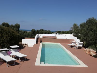 """Photo for Casa3 """"guesthouse"""" 6 guests 3 bedrooms pool sea view olive trees Puglia"""