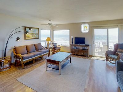 Photo for Dog-friendly, oceanfront home with fireplace, furnished deck, & incredible view