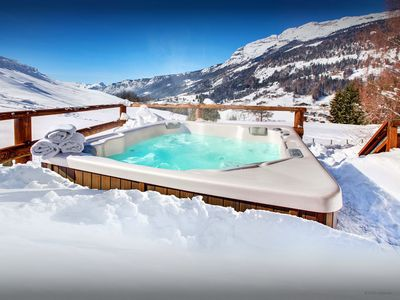 Photo for Enjoy views from the hot tub or relax at this cosy 4* chalet - OVO Network