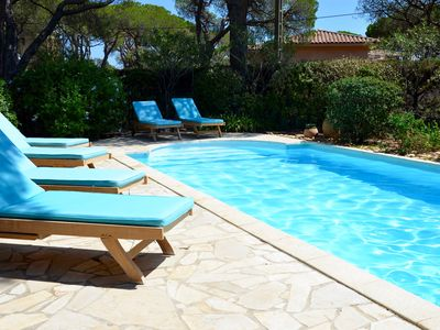 Photo for Charming house, heated pool in Ste Maxime.