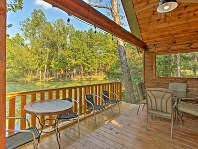 Photo for Broken Bow 'Lilypad Cabin'- Hot Tub & Fishing Pond