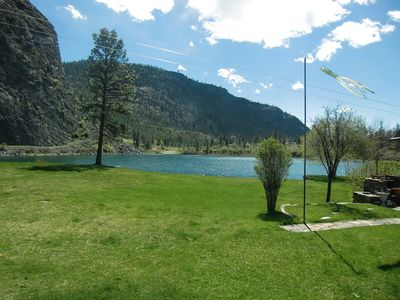 Photo for Tranquil lakefront retreat at Gallagher Lake offer optimum relaxation/family fun