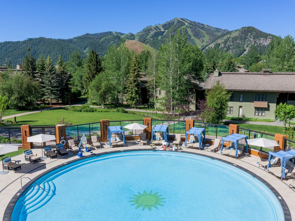 A shared pool hot tub other amenities near dollar mountain sun valley sun valley for Sun valley idaho swimming pool